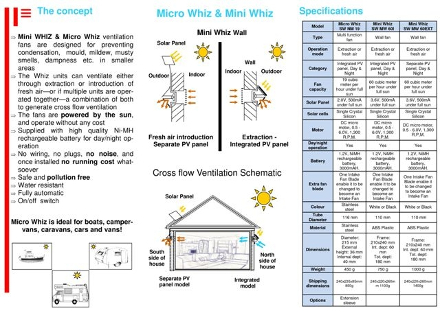 Solar Whiz Brochure Solar Cooling Amp Heating Brochures