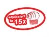 equivalent-to15x