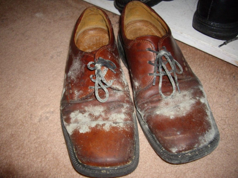mouldy shoes