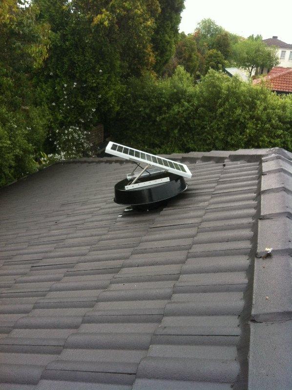 Solar Whiz Roof Ventilators & Exhaust Fans for heat extraction
