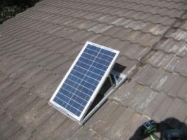 PV panel for Solar sub-floor-ventilation system w/solar fan