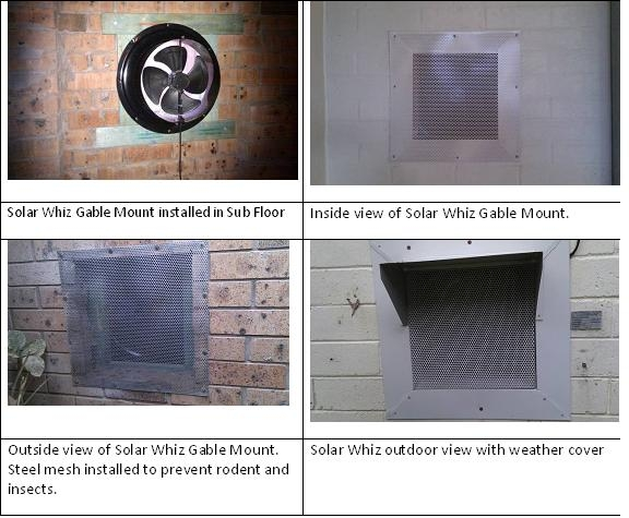 Solar Ventilation with Solar Sub-Floor Ventilation fans