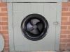 Solar Under-Floor Ventilation w/solar fan mounted in door - outside-view