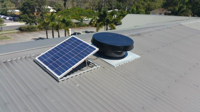 commercial unit on roof