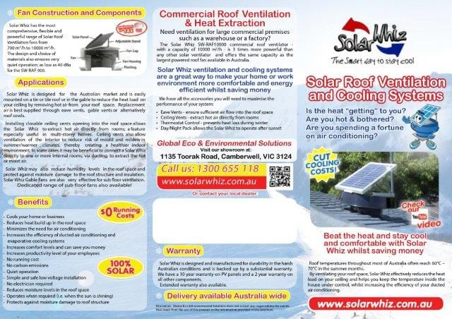solar whiz brochure