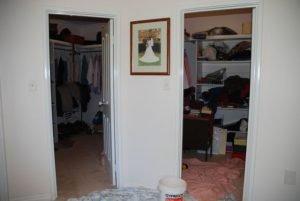 double walk-in wardrobe