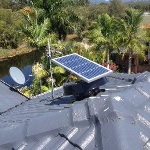 Solar Whiz on roof