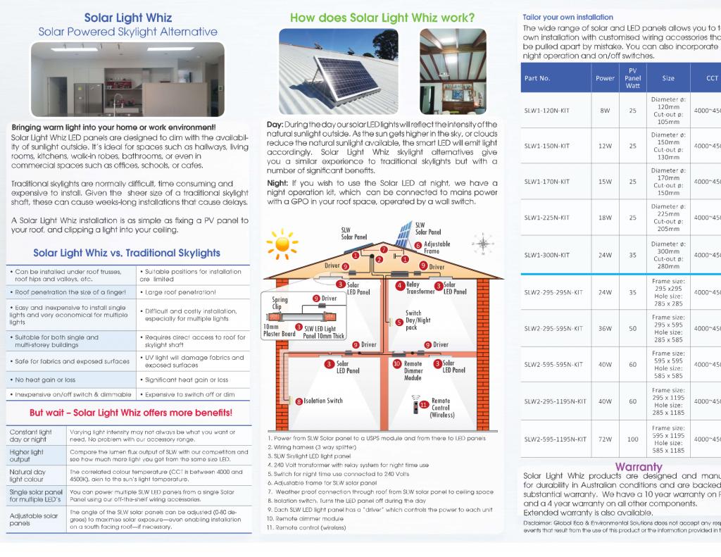 Solar Light Whiz brochure