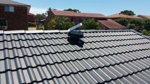 SW on a tile roof
